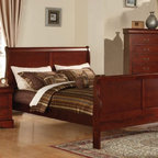 Acme Furniture - Louis Philippe III KD Cherry Queen Bed - 19520AQ - Louis Philippe III Collection Queen Bed