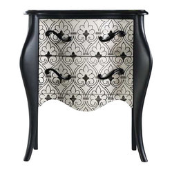 Hooker Furniture - Hooker Furniture Melange Black and White Accent Chest - Hooker Furniture - Accent Chests - 63850093 - Come closer to M��lange and you will discover something unexpected an eclectic blending of colors textures and materials in a vibrant collection of one-of-a-kind artistic pieces.