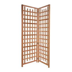 All Things Cedar - All Things Cedar 7-ft. Cedar Wood Privacy Screen Trellis - TS33U-2 - Shop for Canopies from Hayneedle.com! Make your patio more private or cover a less-than-attractive area in your backyard with the All Things Cedar 7-ft. Cedar Wood Privacy Screen Trellis. With the lattice panels on this screen you will be able to grow your favorite vines and greenery to create an incredible feeling of romance at your home.Crafted from clear-grain Western Grain Cedar the Cedar Trellis Screen will weather to an attractive silver-gray patina if left unfinished. Cedar is naturally resistant to moisture decay and insects and is extremely durable for outdoor use.The hardware is zinc-coated to prevent rust. Hand-crafted for ultimate durability the Cedar Trellis Screen has pre-drilled holes and fully illustrated instructions for assembly.Place your order for the Cedar Trellis Screen to enjoy the romantic atmosphere it provides at your home.About All Things CedarA world leader in fine patio furniture garden furniture and other accessories All Things Cedar is a smart choice for your outdoor needs. They offer an extensive line of unique items made from high-quality weather-resistant woods including clear-grade cedar teak and more. Their items are designed with care in timeless fashions that are sure to enhance your space. All Things Cedar prides themselves on fine customer service and dependable products.