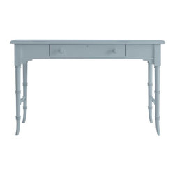 Stanley Furniture - Coastal Living Cottage-Table Desk - Gone are the days of writing letters. But not the style. Use this graceful table in lieu of a bulky desk to handle household chores, browse the Sunday circular or if you're ever inclined to, even affix a stamp. Includes keyboard drawer, just in case.