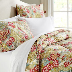 Leslie Floral Reversible Comforter and Sham - I love how vibrant the colors of this bedding are. Plus, it adds a few more accents of red to really bring in the holiday cheer.