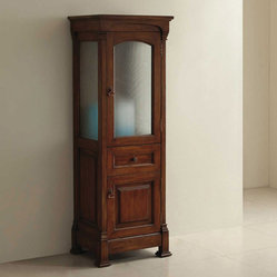 JM for Thos. Baker - bates linen cabinet (burnished oak) - The bates collection features kiln ...