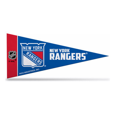 Rico Industries - New York Rangers Mini Pennant - Set of Eight - Show pride in your favorite hockey team with this felt mini pennant set that looks awesome in the home or office.   Include eight mini pennants 9'' W x 4'' H 100% acrylic Imported