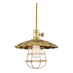 Hudson Valley Lighting - Hudson Valley Lighting 8001-AGB-MS3-WG Heirloom 1 Light Pendants in Aged Brass - This 1 light Pendant from the Heirloom collection by Hudson Valley Lighting will enhance your home with a perfect mix of form and function. The features include a Aged Brass finish applied by experts. This item qualifies for free shipping!