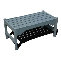 Fifthroom - Siesta Coffee Table - This Coffee Table is the perfect complement to any outdoor furniture collection.  Available in a variety of colors, it makes an attractive centerpiece for a group of furniture, or a convenient side table for your swing or glider.  With two sizes available, you're sure to find the ideal spot for this durable 100% Recycled Poly Lumber table.