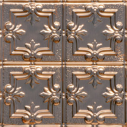 Decorative Ceiling Tiles - Detailed Fleur de Lis - Copper Ceiling Tile - 1202DD - Find copper, tin, aluminum and more styles of real metal ceiling tiles at affordable prices . We carry a huge selection and are always adding new style to our inventory.