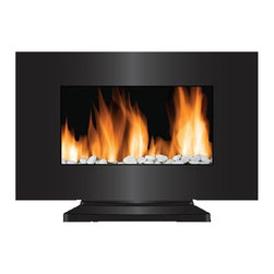 "Frigidaire VWF-10305 Vienna 35"" 10 Color Electric Wall / Floor LED Fireplace - Frigidaire VWF-10305 Vienna 2-in-1 Wall Hanging & Floor Standing LED  Fireplace with Color-Changing Flame brings beauty and warmth to your  living space. This unique feature allows you to choose from 10 flame  colors that compliment your home decor or just set it in auto-color  changing mode. Flame effect operates with and without heat to create a  remarkable ambiance in any season. With its dual heat settings, you can  simply plug and heat almost instantly. The curved tampered glass panel  and built-in automatic overheat protection combines beauty with safety.  It comes with real pebbles that enrich the flame effect further. It  includes mounting hardware and a floor stand, you have the option to  mount the unit safely on virtually any wall or use standing base to  place on the floor. The remote control let's you easily control the  heat, flame colors and flame brightness from the comfort of a bed or  couch. This stylishly designed fireplace is simply fascinating and a  must-have for every home3532aFeatures: - Vienna 2-in-1 LED Fireplace with Color-Changing Flame heats up to 400 sq. ft.- Wall mountable and floor standing option gives more variety of where to locate the fireplace- Dual heat settings (750 Watts/2500 BTU; 1500 Watts/5000 BTU) offers flexibility to choose your heating preference- Built-in overheat protection with auto safety shut-off- Curved LED screen- 10 choices of color-changing realistic-effect LED flames- Built-in auto color changing mode- Flames operate with and without heat- Flames include an adjustable brightness- Flames do not include realistic crackling sound- Heat resistant tempered curved glass panel- Real pebbles and remote control included- Modern wide-screen wall mount design brings comfort to any room dcor- No assembly or hardware needed, simply plug in and heat- Size: 22""H x 5.9""D x 35.4""WSPECIFICATIONS:- 2-in-1 curve screen electric fireplace- Wall mountable & floor standing in one- Dual heating setting: 750/1500 Watts; 2500/5000 Heat BTU- 10 colors to choose from- Auto color-changing mode built-in- Flames operate with and without heat- Built-in overheat protection- Adjustable flame brightness- Real pebbles included- No assembly needed - just plug in and heat- Remote control included- 1-year limited warranty 3532b"