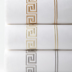 Peter Reed - Queen Embroidered Flat Sheet - IVORY (QUEEN FLAT) - Peter ReedQueen Embroidered Flat Sheet