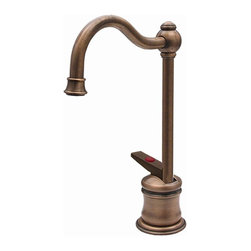 Whitehaus - Forever Hot 4.5 in. Instant Water Dispenser F - Color: Mahogany BronzePictured in antique copper. Traditional spout. Self closing handle. Fits counter tops up to 2.25 in.. Can be used with wh-tank only. 4.5 in. W x 6.63 in. H (3 lbs.). Warranty