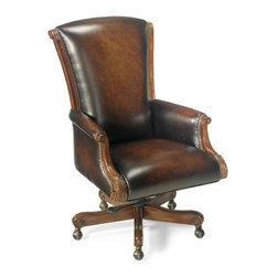 Hooker Furniture - Executive Swivel Tilt Chair - Leather: James River Edgewood (Wipe on)
