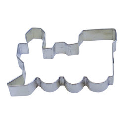 RM - Train Locomotive 5 In B1044X - Train Locomotive cookie cutter, made of sturdy tin, Size 5 in., Depth 7/8 in., Color silver