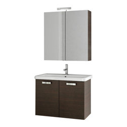 ACF - 30 Inch Wenge Bathroom Vanity Set - Part of the ACF City Play collection, this wall mount bathroom vanity is essential.