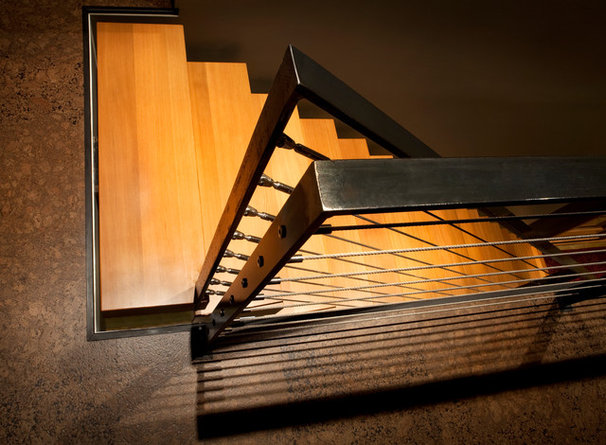 Contemporary Staircase by CTA Architects Engineers