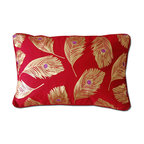 None - Jewel Neck Roll - Designed to coordinate with the Jewel Quilt Set,this 12 x 18-inch stuffed neck roll pillow features stylized applique designs in feather designs. With a knife edging,the exterior of this neck roll is a soft and comfortable cotton.