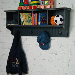 Relics Furniture - 4-Slot Wall Cubby - Walls are often untapped storage space. When you run out of floor space, built up!