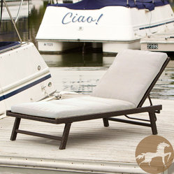 Christopher Knight Home - Christopher Knight Home Waveland Chaise Lounge with Cushion - With a sturdy iron frame and stylish wicker finish, this outdoor chaise lounge makes a handsome addition to any porch or pool-side deck. This versatile chaise lounge features a sleek modern look versatile enough to accent a range of outdoor decors.
