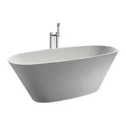 ADM - Solid Surface Stone Resin Bathtub, Matte - SW-107S