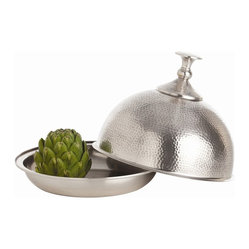 Arteriors - Istanbul Covered Dish, Dome - You'll entertain with flair using this impressive piece. Inspired by Moorish design, its hammered and silvered domed lid lends a level of haute presentation to the act of serving a meal.