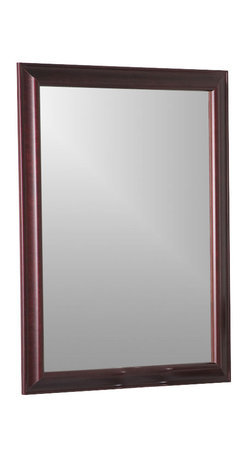 Decor Wonderland Mirrors - Decor Wonderland London Mahogany Framed Wall Mirror - The London Mahogany Large Wall Mirror is a perfect mirror for either traditional or contemporary home decor. Classic and stylish, hang this exquisite large wall mirror on your wall for a brilliant combination of added depth and beauty.