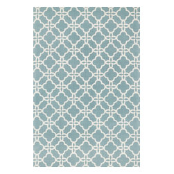 """Loloi Rugs - Loloi Rugs Geo Collection - Blue / Ivory, 3'-6"""" x 5'-6"""" - Bold geometric patterns and fun color combinations come together beautifully in Geo. Printed on a cotton surface in India, Geo's designs offer eye-catching appeal, while its 100% cotton material keeps the look simple and casual - great for today's modern living rooms, dining areas, or kid's room."""