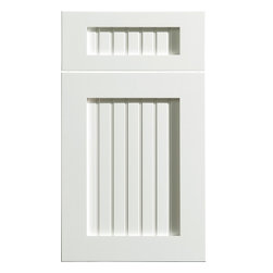 """Dura Supreme Cabinetry Craftsman Beaded Panel Cabinet Door Style - Dura Supreme Cabinetry """"Craftsman Beaded Panel"""" cabinet door style in Paintable shown with Dura Supreme's """"White"""" paint finish."""