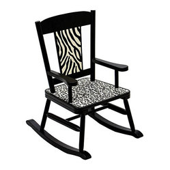 Levels of Discovery - Wild Side Rocking Chair - Classic in black and ivory, this zebra-print rocking chair is the perfect addition to your childs zoo-themed bedroom. A special stamp under the seat provides space for personalizing this unique Wild Side gift from Levels of Discovery.