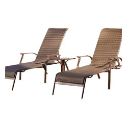 Panama Jack Island Cove Woven 3 Piece Chaise Lounge Set