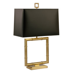 Robert Abbey - Jonathan Adler Meurice Table Lamp - This lamp is such a square. Its geometrically pleasing lines and polished finish hint at Hollywood Regency style. Use it to add a little glamour to your living, den or family room.