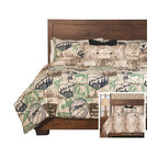 SIS Covers - SIS Covers Parks And Rec Duvet Set - 6 Piece Queen Duvet Set - 5 Piece Twin Duvet Set Duvet 67x88, 1 Std Sham 26x20, 1 16x16 dec pillow, 1 26x14 dec pillow. 6 Piece Full Duvet Set Duvet 86x88, 2 Std Shams 26x20, 1 16x16 dec pillow, 1 26x14 dec pillow. 6 Piece Queen Duvet Set Duvet 94x98, 2 Qn Shams 30x20, 1 16x16 dec pillow, 1 26x14 dec pillow. 6 Piece California King Duvet Set Duvet 104x100, 2 Kg Shams 36x20, 1 16x16 dec pillow, 1 26x14 dec pillow6 Piece King Duvet Set Duvet 104x98, 2 Kg Shams 36x20, 1 16x16 dec pillow, 1 26x14 dec pillow. Fabric Content 1 100 Polyester, Fabric Content 2 100 Polyester, Fabric Content 3 100 Polyester. Guarantee Workmanship and materials for the life of the product. SIScovers cannot be responsible for normal fabric wear, sun damage, or damage caused by misuse. Care instructions Machine Wash. Features Reversible Duvet and Shams.