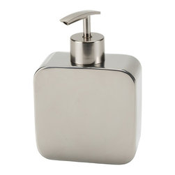 Gedy - Chrome Free Standing Soap Dispenser - Modern chrome free standing chrome soap dispenser.