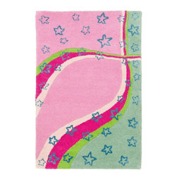 Safavieh - Kids Safavieh Kids 3'x5' Rectangle Green - Pink Area Rug - The Safavieh Kids area rug Collection offers an affordable assortment of Kids stylings. Safavieh Kids features a blend of natural Green - Pink color. Hand Tufted of Wool the Safavieh Kids Collection is an intriguing compliment to any decor.