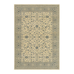"Karastan - Karastan English Manor 2120-00540 8' x 10'5"" Somerset Lane Ivory Blue Rug - Your decor should welcome you and your guests when entering the room. Make your home warm and inviting with this charming area rug. The delicate pattern and rich background set a comfortable, elegant mood everyone can appreciate."