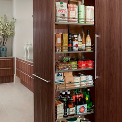 Cabinetry Accessories - Pullout Pantry - Wood-Mode Cabinetry - Heart of the Home Kitchens