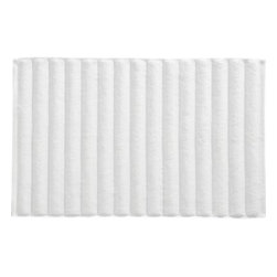 White Bath Mat - Ribs of white cotton greet the feet with a soft landing that's super absorbent and quick-drying. Reverses to same.