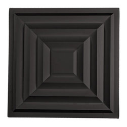 "Aristocrat Ceiling Tile - Black - Perfect for both commercial and residential applications, these tiles are made from thick .03"" vinyl plastic. Their lightweight yet durable construction make these tiles easy to install. Waterproof, these tiles are washable and won't stain due to humidity or mildew. A perfect choice for anyone wanting to add that designer touch at an amazing price."