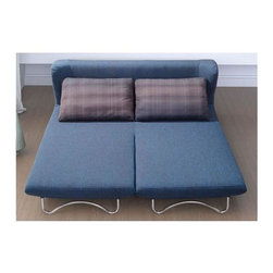 Zuo Modern - Sleeper Sofa in Blue - Includes shadow grid cushion. Folds to a large sleeper. Comfortable, stylish and flexible. Fabric body. Steel legs. Warranty: One year. Assembly required. Sofa seat: 74.8 in. L x 28.3 in. W x 16.9 in. H. Sleeper seat: 74.8 in. L x 56.3 in. W x 11 in. H. Sofa overall: 74.8 in. L x 36.6 in. W x 30.7 in. H. Sleeper overall: 74.8 in. L x 64.6 in. W x 30.7 in. H. Weight: 143 lbs.