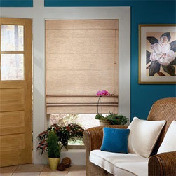 Bali Casual Classics Flat Panel Roman Shades - Bali Casual Classics Roman Shades offer the softness of a drapery with the practicality of a shade and feature a variety of fabric styles, colors, textures and light control. Select either the classic flat shade or the flowing looped shade - whichever best fits your decorating style.
