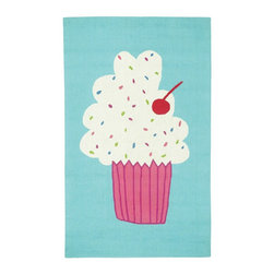 """Capel - Kids Cake Pops 3'6""""x5'6"""" Rectangle Seaway Area Rug - The Cake Pops area rug Collection offers an affordable assortment of Kids stylings. Cake Pops features a blend of natural Huckleberry color. Hand Hooked of 100% Wool the Cake Pops Collection is an intriguing compliment to any decor."""