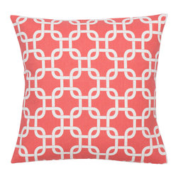 Look Here Jane, LLC - Gotcha Coral Pillow Cover - PILLOW COVER
