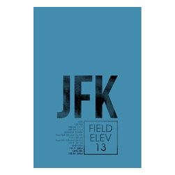 08 Left - 008 Left JFK (ATC) - New York City Metal Print - As good as it gets. Ready to hang. Absolutely stunning and tough as rocks.