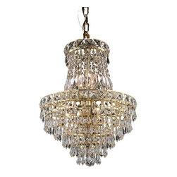 Elegant Lighting - Elegant Lighting 2526D14G Tranquil 6-Light, Single-Tier Crystal Chandelier, Fini - Elegant Lighting 2526D14G Tranquil 6-Light, Single-Tier Crystal Chandelier, Finished in Gold with Clear CrystalsElegant Lighting 2526D14G Features: