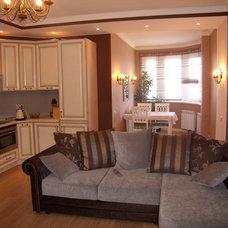 Eclectic Family Room by Natalia Osipova (design studio TABITI)