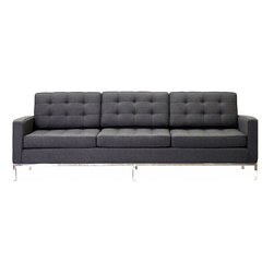 Modway - Modway EEI-188 Loft Sofa in Dark Gray - The mid-20th century was a time when hopes were at their highest. Technological developments were bustling forward, and the new world was just barely visible in the distance. But this time also presented a dilemma of sorts. The test of this forthcoming era was to be whether industry would foster comfort or stifle it.
