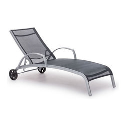 Zuo Modern - Zuo Casam Lounge in Black & Silver - Casam Lounge Black & Silver by Zuo Modern Sleek and modern, lounge in style with the Casam Lounge Chair. The frame is made of aluminum and the cover is textile, a very durable polyester fiber mix that withstands UV rays and water. Lounge (1)