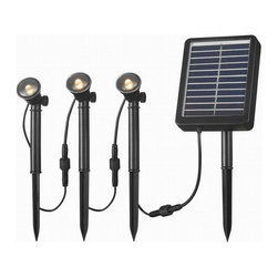 Kenroy Home - Kenroy 60504 Solar Spotlight 3 Light String - Solar Spotlights are ideal for illuminating steps, shrubs, flags, address markers, fountains, statuary and other landscape elements outside of your home or business.