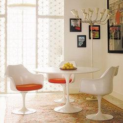 Knoll - Knoll | Saarinen 42-Inch Round Dining Table, White Laminate - Quick Ship - Design by Eero Saarinen, 1956.