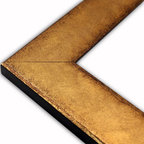 The Frame Guys - Flat Brushed Gold with Distressed Edge Picture Frame-Solid Wood-16x20 - *Flat Brushed Gold with Distressed Edge Picture Frame-Solid Wood-16x20