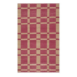Safavieh - Handmade Thom Filicia Chatam India Red Outdoor Rug (4' x 6') - This indoor outdoor rug has a brown background and displays stunning panel colors of indian red and beige. This handwoven rug is made from recycled plastic bottles and is resistant to mold,mildew,sun,water and other elements.