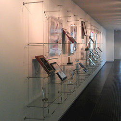 Cable Suspended Glass Shelves -