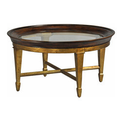 Ambella Home - Luna Cocktail Table - All the impact of gold, burnished for subtlety. This stately cocktail table, crafted of exotic gmelina wood, is a fine reflection of your traditional taste.